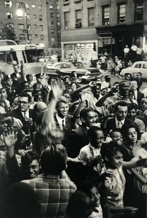 Bill Ray (1936-) - RFK campaign for JFK's Presidency in East Harlem, 1960