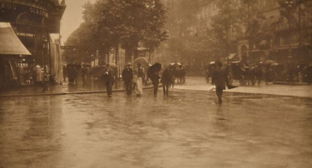 Alfred Stieglitz (1864-1946)  - A Wet Day on the Boulevard, Paris, 1894