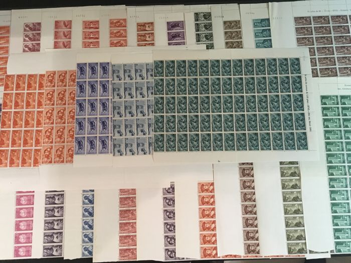 Spain 1961/1965 - stamps in large blocks of Spanish colonies