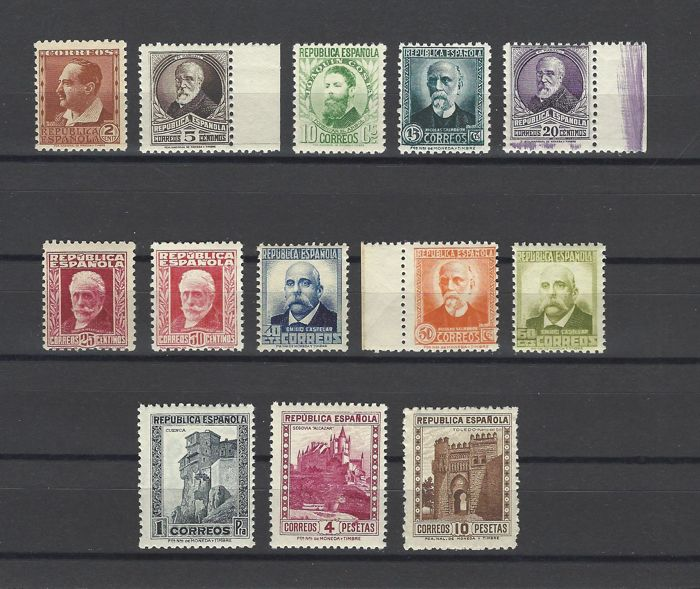 Spain 1932 - Characters without number - Edifil 662/75