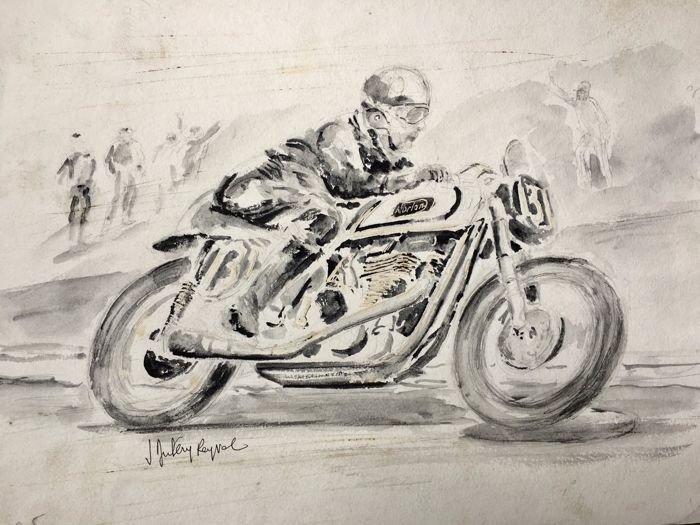 Drawing in Indian ink Norton of Jacques Duléry-Reyval