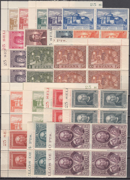 Spain 1930 - Discovery of America. Land mail and airmail - Edifil 547/558, 559/565