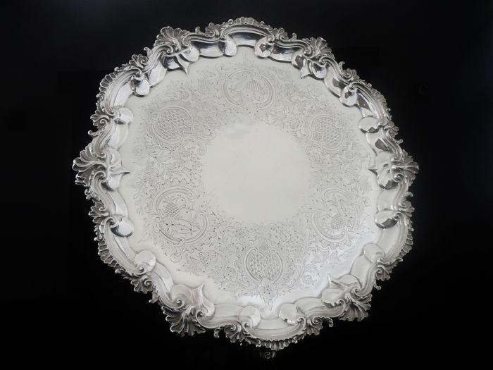 LARGE Silver Salver, London 1801, John Israel