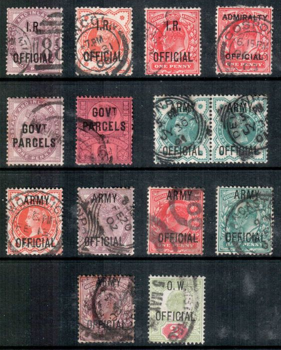 Great Britain 1882/1903 - official stamps set