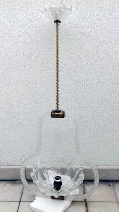 Attributed to: Barovier & Toso - Vintage Glass Pendant