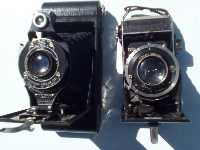 Lot of 2 Old Collectible Bellows Cameras