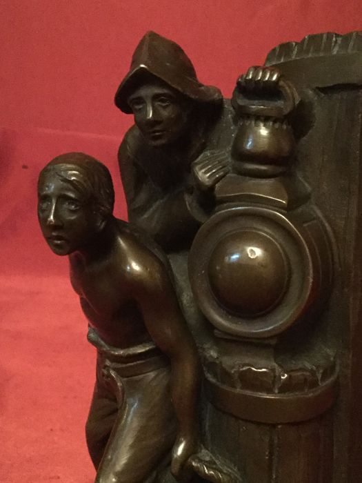 "Cast bronze sculpture ""Sailors"" - France - early 20th century"