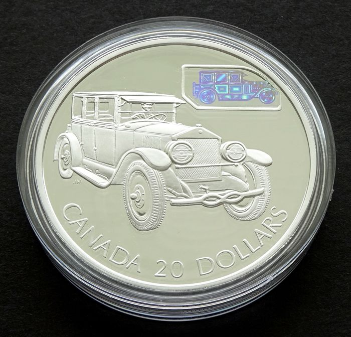 Canada - $20 2002 'The Gray-Dort with Hologram' - silver
