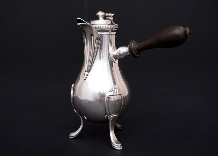 French Solid Silver Coffee Pot, Paris, 1798-1809