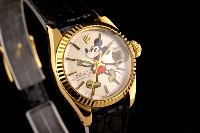 Rolex - Excellent Oyster Perpetual Mickey Mouse Gold 18K - 6017 - Dames - 1980-1989