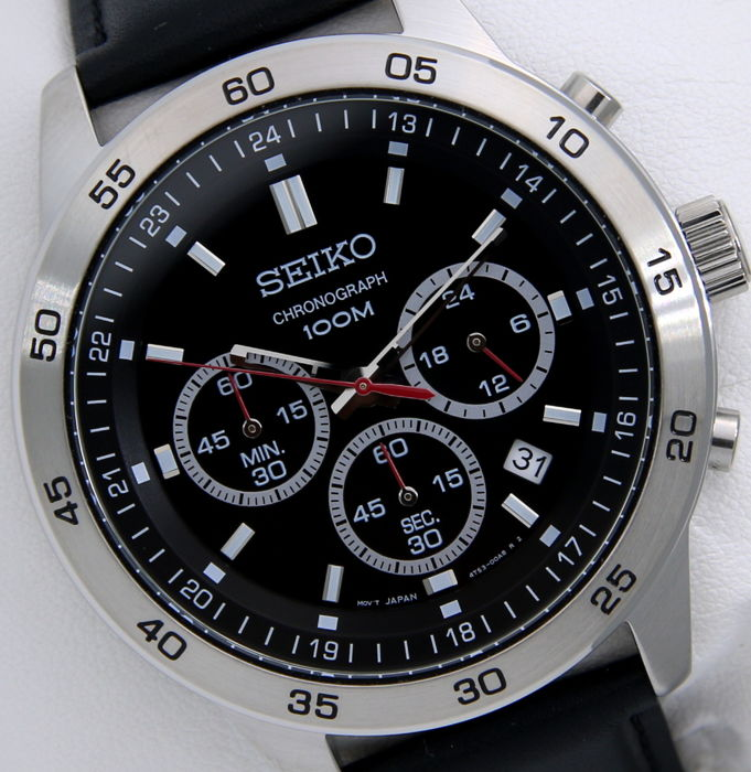 "Seiko - Chronograph 100M ""Race"" - New -""NO RESERVE PRICE"" - Heren - 2011-heden"