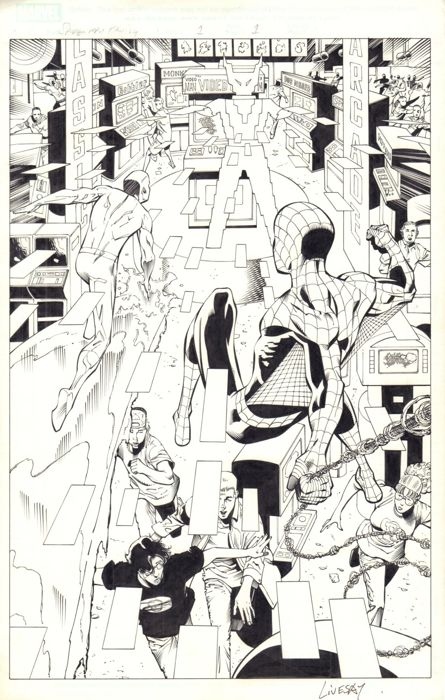 Spider-Man Family Featuring Amazing Friends #1 - Original Artwork - Loose Page - First Edition - (2006)