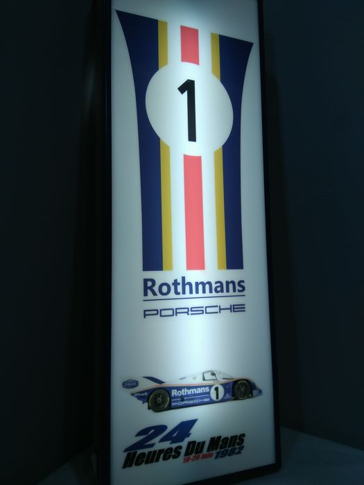 Lampen - Exclusivo Cartel Luminoso PORSCHE-ROTHMANS LE MANS