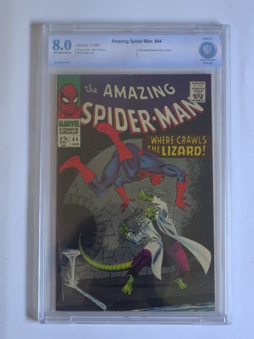 Amazing Spider-Man #44 - CBCS Graded 8.0 - Prima Edizione - (1967)