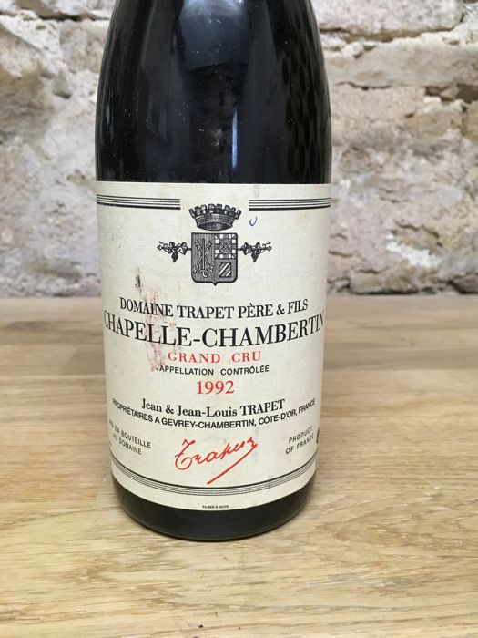 1992 Chapelle-Chambertin Grand Cru - Jean Louis Trapet x 1 bottle