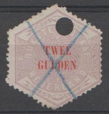 Netherlands 1877 - Telegram stamp - NVPH TG12