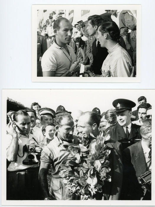 photograph - 6 Stirling Moss and Fangio Racing Photographs (6 items)
