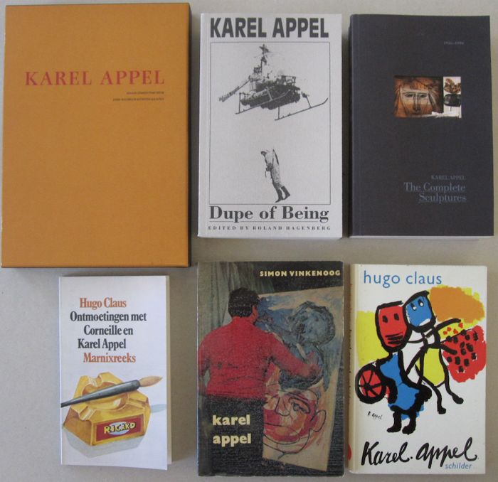 Karel Appel - Lot with 6 books - 1964/1991