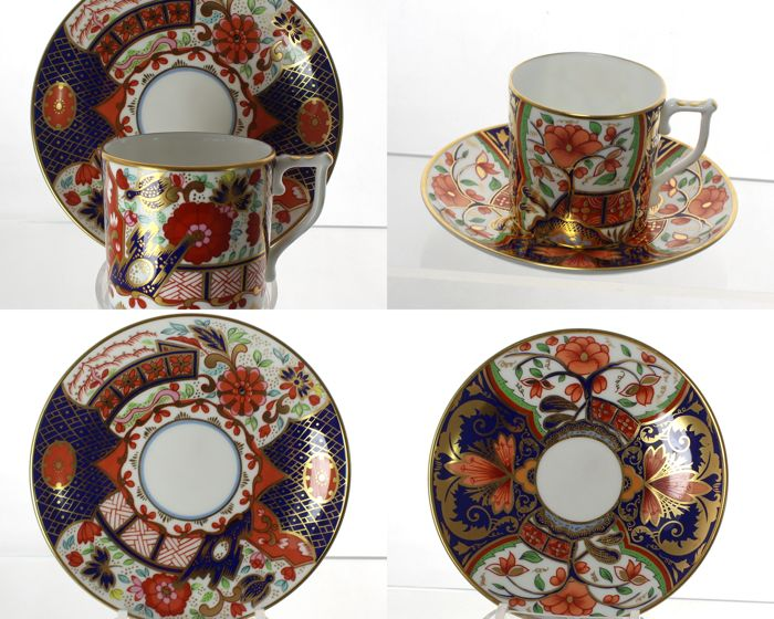Royal Crown Derby - Curator's Collection - Lot of 2 porcelain coffee duos - Imari patterns