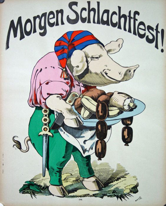 Anonymous - Wissembourg - Morgen schlachtfest ! - Circa 1870