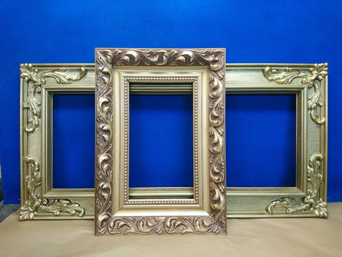 Wooden frames for paintings, mirrors