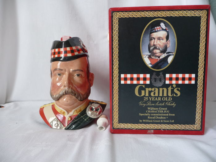 Grants 25 years old - Character Jug - 75 cl - bottled 1986