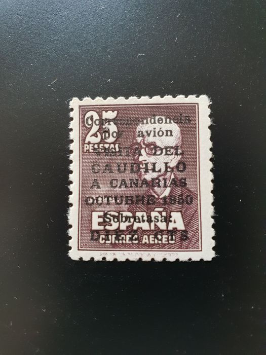 Spain 1951 - The Caudillo visit to the Canary Islands - Edifil 1090