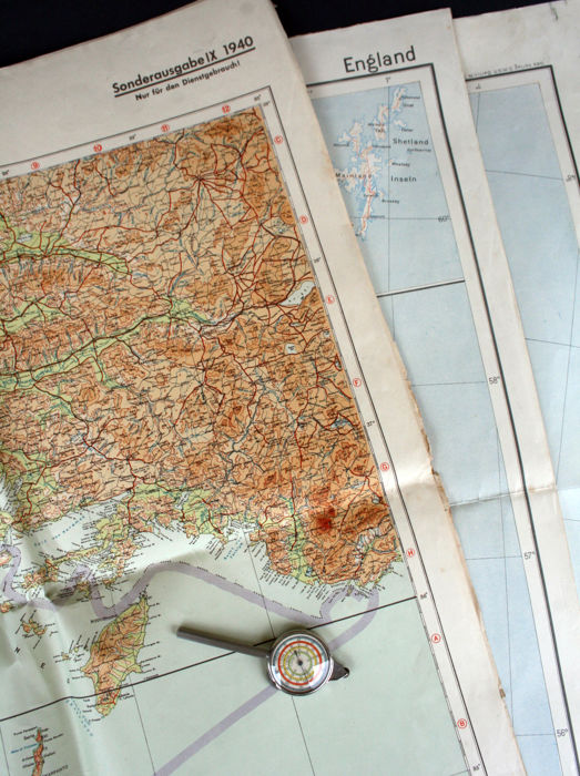 Map Of England France And Italy.Wehrmacht Map Set England France Belgium Crete Italy Africa