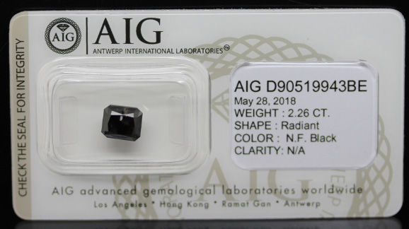 2.26 ct. Certified Natural Fancy Black Diamond - NO RESERVE