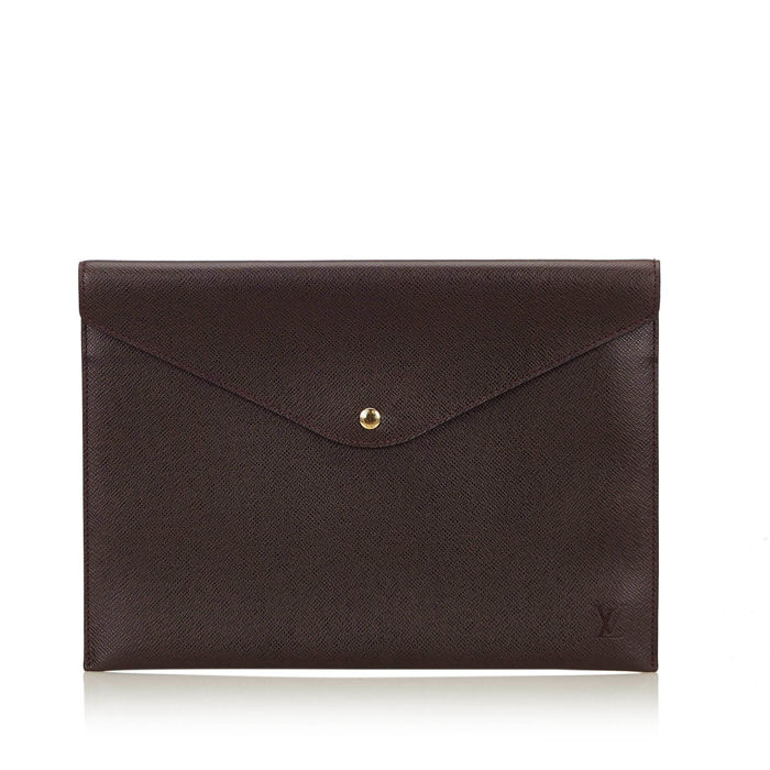 Louis Vuitton - Taiga Document Case Clutch Bag
