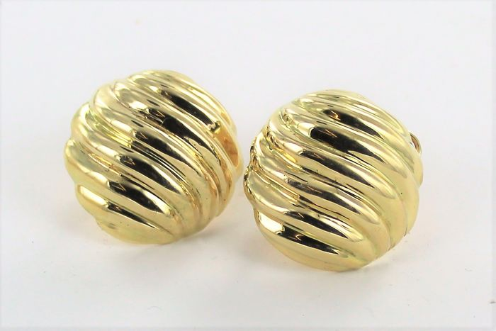Earrings - 18 kt gold - 25 mm - 21.56 g