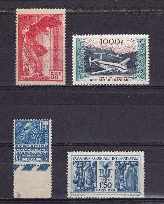 France 1930/1937 - Samothrace, Exp Colonial and Post Aerienne
