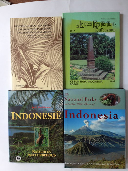 Lot of four books about Indonesia - 1985/2000