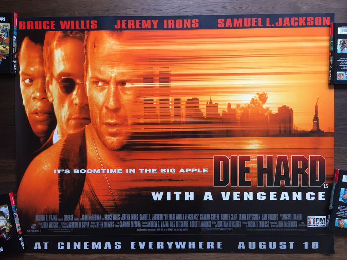 2 x DIE HARD with an vengeance, Bruce Willis , Jeremy Irons, 1995