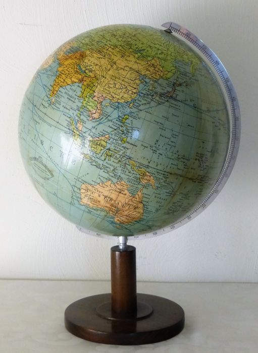 Columbus globe on wooden base