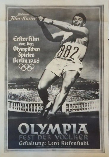Leni Riefenstahl - Olympia movie poster - 1936