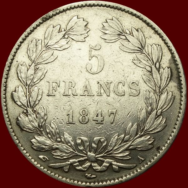 France - 5 Francs 1847-A Louis Phillippe I - Silver