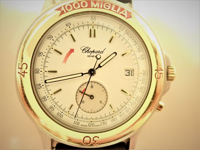 Chopard - 1000 Mille Miglia 8162 Steel 18K Yellow Gold Quart - 8162 - Herre - 1990-1999