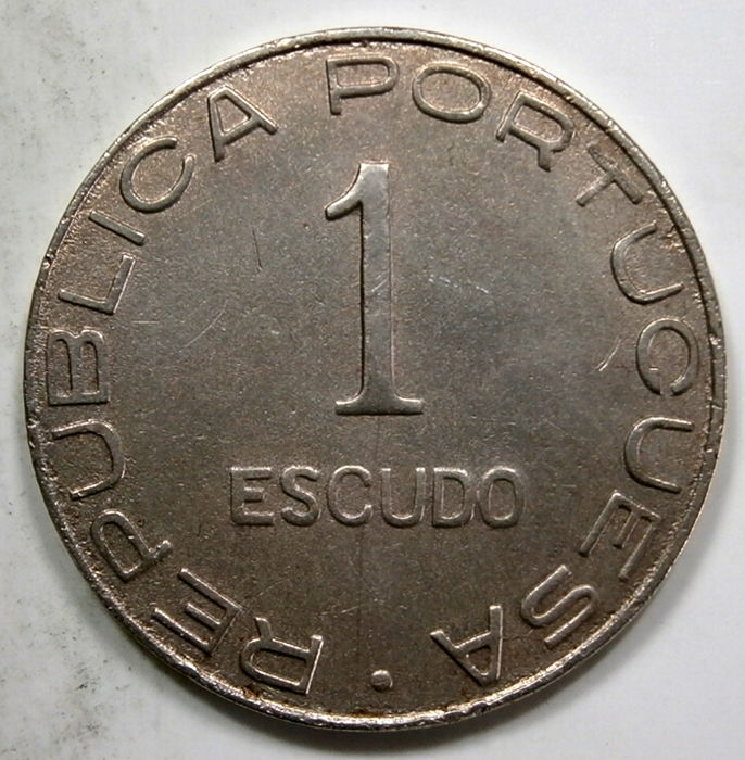 Mozambique, Portugal - Republic - 1 Escudo - 1936 - Copper/Nickel