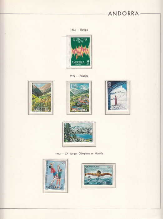 Andorra - Spanish 1963/2004 - Collection of stamps and sheets blocks