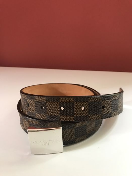 61a45892543 Louis Vuitton - - Damier ebene belt - unisex - Catawiki