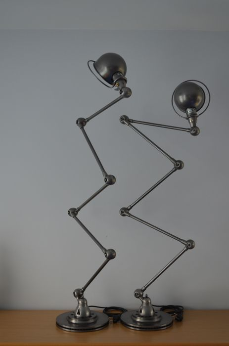 Jean-Louis Domecq for Jieldé - 2 identical 5-arm floor lamps
