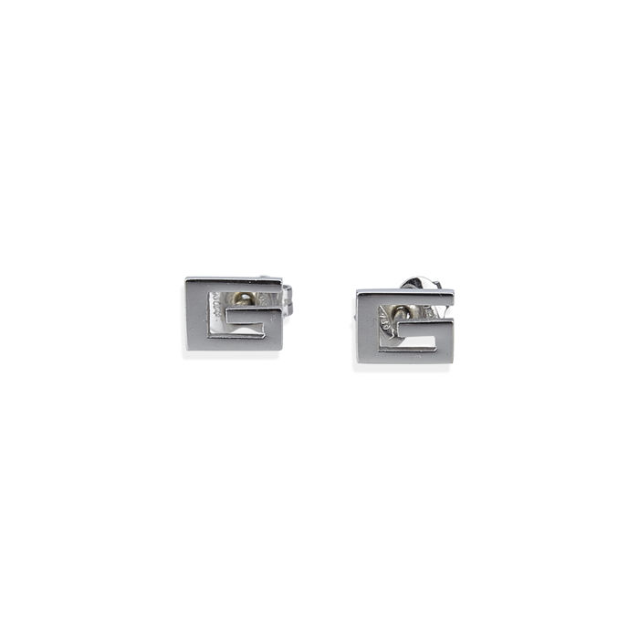 Gucci - White Gold GG Stud Earrings
