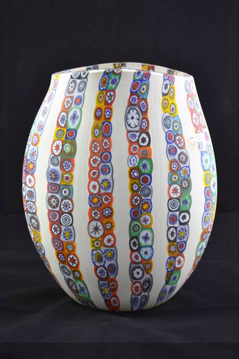 Mario Costantini - Vase with murrine
