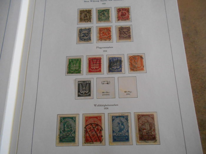 German Empire 1900/1945 - Collection on old form sheets