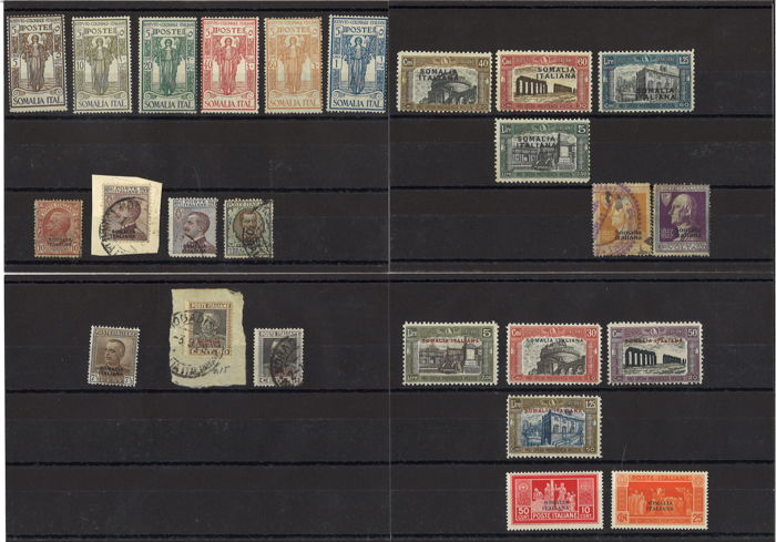 Somalia 1926/1936 - small lot of new/used stamps