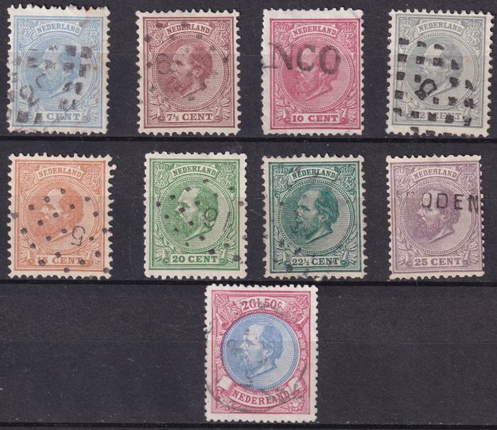 Pays-Bas 1867 - Le roi Guillaume III - NVPH 19/29