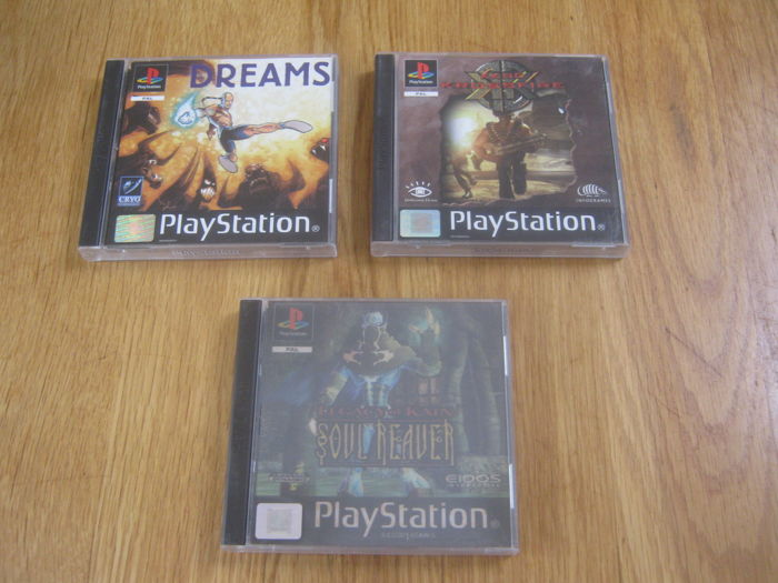 3 Top games for the playstation 1: Soul Reaver + KKND Crossfire + Dreams