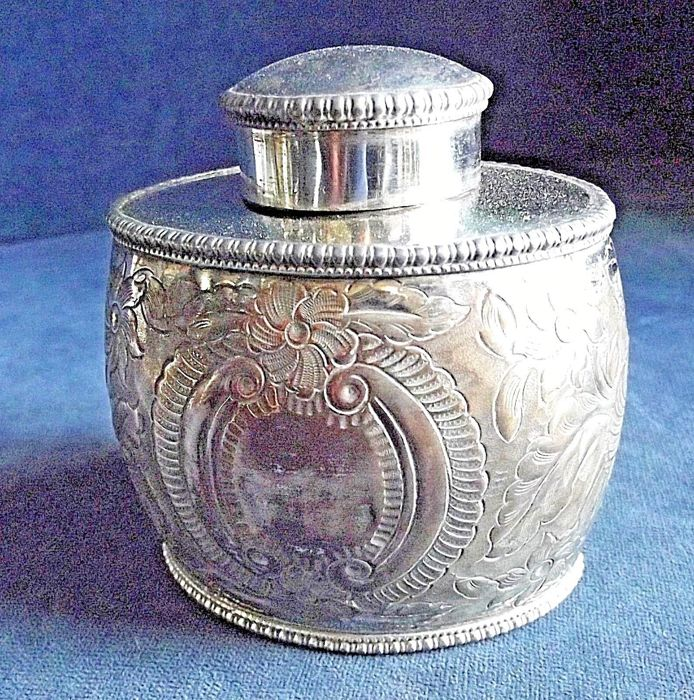 Silver plated Tea Caddy, from the Georgian period, 1820s