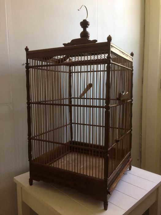 Vintage large bird cage, second half 20th century